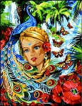 Margot de Paris Tapestry/Needlepoint � Tropical Fantasy