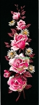 Margot de Paris Tapestry/Needlepoint � Roses on Black