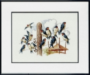 Pako Counted Cross Stitch Kit - Swallows on the Line
