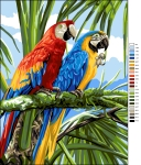 Royal Paris Tapestry Canvas � Colourful Macaws