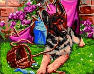 Royal Paris Tapestry/Needlepoint - Calamity (German Shepherd)