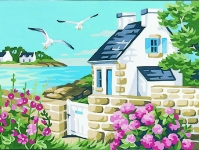 Royal Paris Tapestry/Needlepoint - Cottage by the Sea
