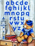 Royal Paris Tapestry/Needlepoint - Sailor Teddy Alphabet