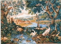 Royal Paris Tapestry/Needlepoint Canvas - Verdure with waders