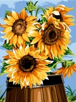 SEG de Paris Tapestry/Needlepoint – Barrel with Sunflowers