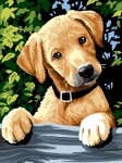 SEG de Paris Tapestry/Needlepoint � Dog at the Fence