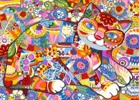SEG de Paris Tapestry/Needlepoint � Floral Cat