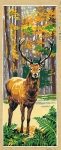SEG de Paris Tapestry/Needlepoint – Stag in Forest (Le Cerf)