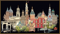 Thea Gouverneur Cross Stitch Kit - Amsterdam/Holland 18# Black