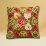 Tramme Tapestry/Needlepoint Kit - Floribunda Roses with Border