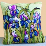 Trammed Tapestry/Needlepoint Kit - Iris Cushion
