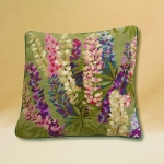 Trammed Tapestry/Needlepoint Kit - Lupin Spray Cushion