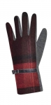 Tweed gloves claret fairtrade by Earth Squared