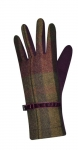 Tweed gloves grape fairtrade by Earth Squared
