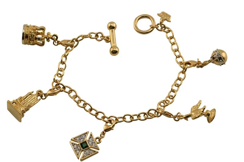 jubilee coronation regalia charm bracelet crowns