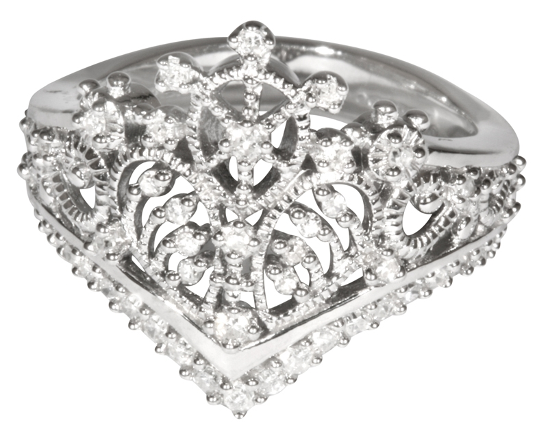 princess tiara collection ring 3 silver plated crowns