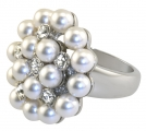 Duchess Of Windsor Pearl and Diamond Ring