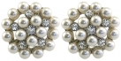 Duchess of Windsor Pearl and Diamond Clip on Earrings