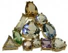 Gems Crystal Brooch Large