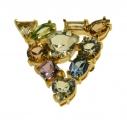 Gems Crystal Small Brooch
