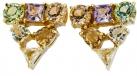 Gems Crystal Triangle Earrings