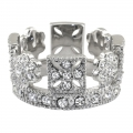 George IV Diadem Ring Silver plated