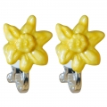 March Daffodil Small Clip-on Earrings