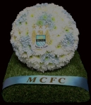 3D Solid Football Tribute Manchester City FC
