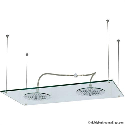Glass shower head double crosswater crosswater fixed head b p m bathrooms ltd - Glass shower head ...