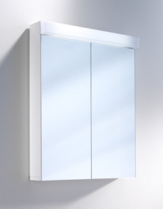 2 DOOR MIRROR CABINET LOWLINE