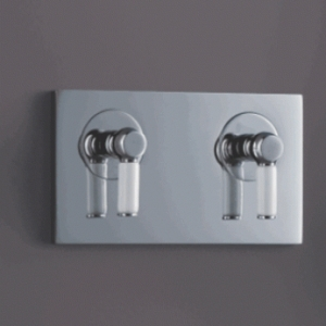 ABSOLUTE2 RETRO DESIGN CONCEALED DUAL OUTLET SHOWER MIXER