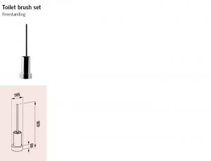 Alessi Dot freestanding toilet brush holder