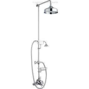 BELGRAVIA COMPACT EXPOSED VALVES THERMO SHOWER VALVE WITH FIXED HEAD AND SHOWER HANDSET