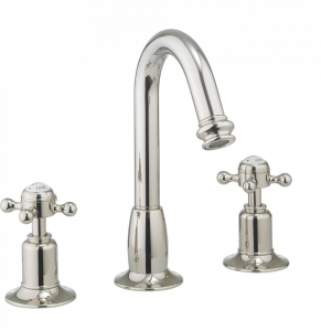 BELGRAVIA CROSSHEAD NICKEL BASIN 3 3 HOLE SET