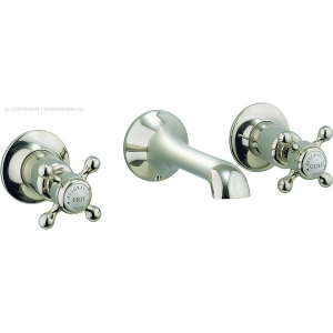 BELGRAVIA CROSSHEAD NICKEL BASIN 3 HOLE SET