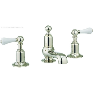 BELGRAVIA LEVEL NICKEL BASIN 3 HOLE SET