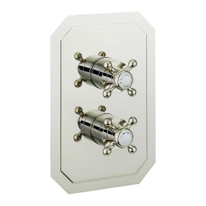 BELGRAVIA RECESSED NICKEL THERMO CROSSHEAD VALVE