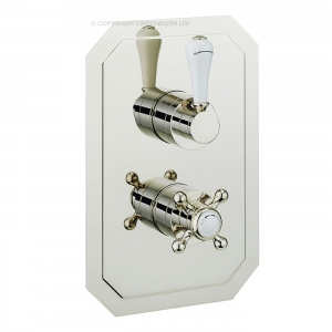 BELRAVIA RECESSED NICKEL LEVER THERMO VALVE