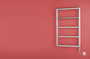 Bisque 870 x 500 Electric Towel Rail