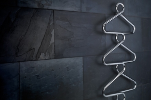 Bisque Archibald 1230 x 525 Electric Heated Towel Rail