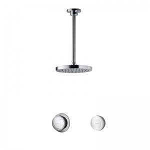 CONCEALED SHOWER WITH 300MM CEILING MOUNTED DRENCHER HEAD STANDARD HP COMB