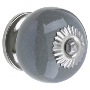 Ceramic Door Knob Grey