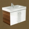 Ceramic washbasin double base unit 60 - 80