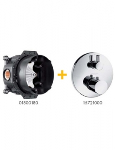 ECOSTAT S THERMOSTATIC SHOWER VALVE WITH DIVERTOR
