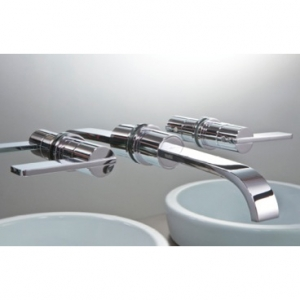 ELIXIR BLADE DESIGN WALL MOUNTED BASIN AND BATH FILLER TAP