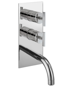 GLIDE THERMOSTATIC SHOWER VALVE WITH BATH SPOUT AND DIVERTER FOR SHOWER OPTION