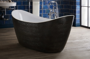 Heritage Alderley Mock Croc Skin Effect Freestanding Acrylic Double Ended Bath
