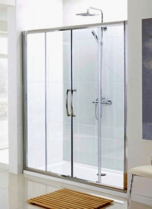 LAKES 2000 x 1850 SEMI- FRAMELESS DOUBLE SLIDER DOOR