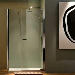 RADIANCE PIVOT INLINE DOOR WITH SIDE PANEL