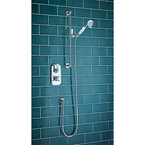 TRADITIONAL THERMOSTATIC SHOWER SET ONE CONCEALED